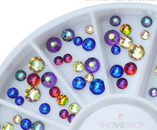 Special Bold Colour Mix Swarovski Flatback Rhinestone Wheel - 140PCS (1.8-3mm)