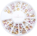 Special Soft Coloured Crystal Mix Flatback Rhinestone Wheel - 240PCS (1mm-5mm)