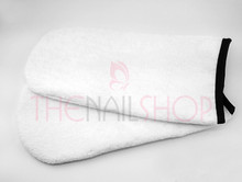White Terry Towel Manicure Mitts for Spa Treatments (Pair)