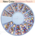 Rainbow Peach AB Flatback Crystal Rhinestone Wheel - 240PCS (1mm-5mm)