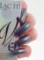 NEW Lac It!™ Advanced Formula Gel Polish - Black Pearl (15ml Bottle). Silver Grey UV Polish.