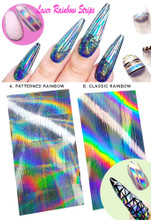 Laser Rainbow Sticker Sheets for Nail Art (2 Styles Available). Nail Fashions & Trends.