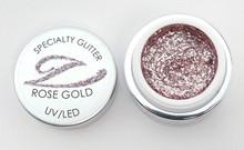 Simply Coloured Glitter UV/LED Nail Gel (Hard Gel) 5ml - Rose Gold (Pink Gold)