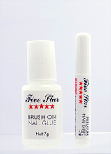 Five Star Premium Clear Nail Glue (Brush On or Nozzle) - 2gm or 7gm (FIVESTAR)