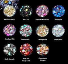 3D Nail Art Jewellery Rhinestone Bead Mix Pot (11 Styles Available)