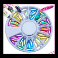 Coloured Long Navette Crystal Rhinestones Flatback Nail Art Wheel (60PCS)