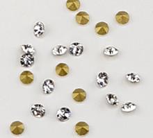 Crystal Clear Glass Chaton V Rhinestones for Nail Art Decoration (100PCS Per Bag) - SS9 (2.5mm)
