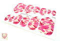 Glamstripes Toe Nail Covers - Pink Camouflage Design