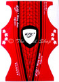 Red & Black Double-Ended Disposable Nail Art Nail Forms (100pcs or 500PCS) - Ideal for Edge & Stiletto Nails!