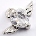 Silver Plated Angel Heart Nail Dangle for Nail Piercing/Ring (5Pcs)