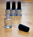 Empty Nail Polish/Oil Bottles with DuPont Round Nylon Brush 15ml - Individual or Bulk (+ Free Ball Bearings)