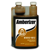 Basic Coatings - Amberizer, 32 oz. Add an amber look to your water based Basic Coatings floor sealer or finish to achieve the classic look of polyurethane.  Add 1-2 ounces of Amerizer to one gallon of any Basic water based sealer or finish.  Each quart will mix with 16-32 gallons, depending on your mix ratio.