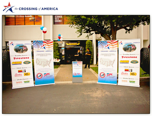 The Crossing of America by the Spirit of Liberty Foundation using a Portable Podium™ by ProProducts™