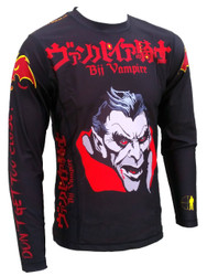 "Don't Get Too Close! ""BJJ Vampire'' Rash Guard, BJJ MMA"