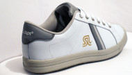 White Leather Uno shoes by SL daps