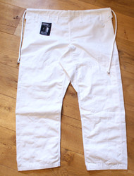 BJJ Pants, Riptstop Fabric WHITE, Trousers, Brazilian Jiu Jitsu