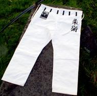 Special Edition KANJI Samurai Pant White, BJJ Gi, Ju Jitsu Gi, Kimono