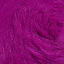 Fuschia Glitter Fox Faux Fur