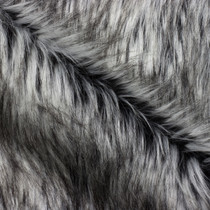 Grey/Black Siberian Husky Luxury Faux Fur