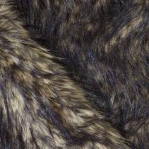 Tan/Black Wolf Luxury Faux Fur