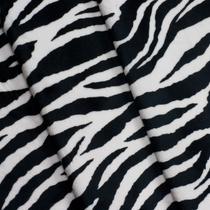 Zebra Print Cuddle Fur