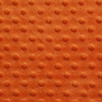 Orange Minky Dot Faux Fur Fabric