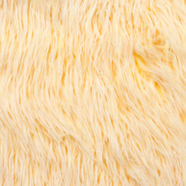 Yellow Iced Faux Fur Fabric