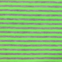 "Green and Gray 1/4"" Striped Jersey Knit Fabric"