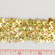 Gold Holographic Sequin Trim
