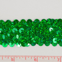 Green Holographic Sequin Trim