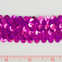 Fuschia Holographic Sequin Trim
