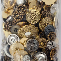 Miscellaneous metallic buttons by the bag