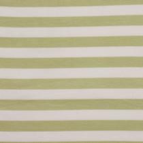 "Avocado Green and Ivory 1/2"" Striped Poly/Rayon/Lycra Knit"