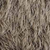 Cappucino Curly Llama Faux Fur Fabric