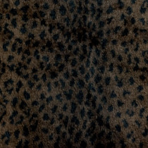 Dark Leopard Faux Fur Fabric