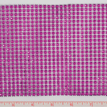 Fuschia Rhinestone Look Trim