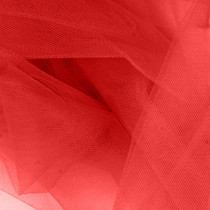 "Crimson Red 54"" Tulle"