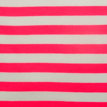Neon Pink and White Knit Fabric