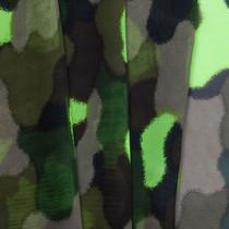 Neon Green Camo Chiffon Print
