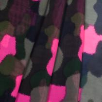 Neon Pink Camo Chiffon Print