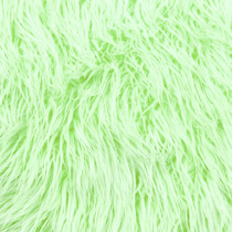 Lime Green Iced Faux Fur Fabric