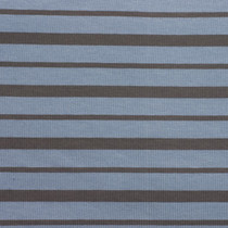 Blue and Grey Striped Jersey Knit Fabric