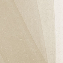 Ivory Glitter Netting Fabric