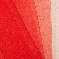 Red Glitter Netting Fabric