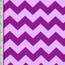 Purple on Lilac Chevron Cotton Print by David Textiles