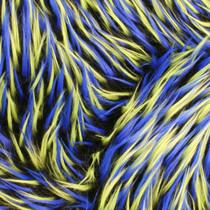 Black/Blue/Green Tri-tone Spike Faux Fur