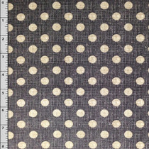 Grey Textured Dot Cotton Print Fabric by David Textiles