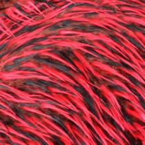 Brown/Red/Black Tri-tone Spike Faux Fur