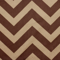 Brown and tan chevron minky fabric