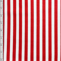 Red and White Vertical Stripe by David Textiles Cotton Print Fabric